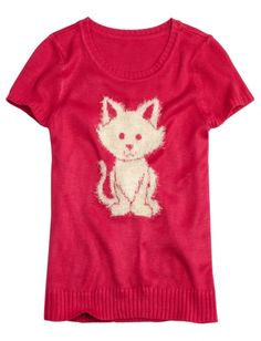 Super Soft Critter Sweater | Girls Sweaters Clothes | Shop Justice  $23.94 [also black or blue tees]