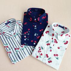 Cherry Cotton Shirt Long Sleeve //Price: $10.99 & FREE Shipping //     #hashtag2