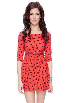 Right Spots Belted Dress $15