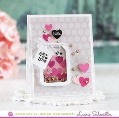 Blooming Jar - Love Jar Kit Heart Filled Mason Jar Card, Love Jar Shaker Card Kit - Queen & Co, Laurie Schmidlin Card Kit, I Card, Love Jar, Mason Jar Cards, Spellbinders Cards, Wedding Anniversary Cards, Shaker Cards, Card Making Inspiration, Valentine Day Cards