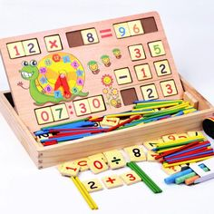 Montessori Mathematics and Time Learning Box - 100 Pieces