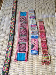 Correas de tejido hecho a mano de Hmong Vintage Boho adorno