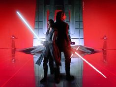Kylo Ren & Rey prepare to confront Snoke's praetorian guards   Star Wars: The Last Jedi   #reylo #praetorianguards #starwarsfanart #snoke