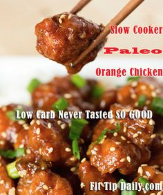 Low Carb Recipe Monday - Slow Cooker Paleo Sesame Chicken. You don't have to cut out all your favorite foods, you just have to get more creative in how you make them!! #paleo #lowcarb, #glutenfreerecipes