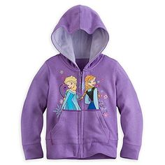 Disney Store Frozen Elsa/Anna Hoodie Sweatshirt Costume Jacket Size Large 9/10 @ niftywarehouse.com #NiftyWarehouse #Nerd #Geek #Entertainment #TV #Products