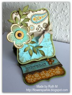 by Ruth M...... I <3 easel cards and this is a pretty shaped one! ... (change sentiment)