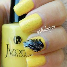 Nails Art - yellow
