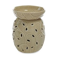 Electric Tart Warmer - Yankee Candle® Everyday Ceramic Leaf Cutout with LED - Tarts® Wax Melts Warmer Aroma Diffuser, Essential Oil Diffuser, Electric Tart Warmer, Leaf Cutout, Wax Burner, Candle Warmer, Wax Warmers, Glazed Ceramic, Wax Melts