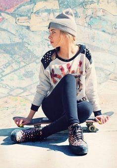 skater girl http://www.creativeboysclub.com/wall/creative
