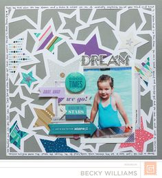 Dream by BasicGrey DT Member Becky Williams featuring Aurora from BasicGrey - Scrapbook.com