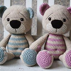 Tummy Teddy amigurumi crochet pattern by lilleliis