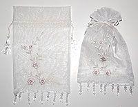 6 x 9 Embroidered Beaded Elegance Organza Bags Beaded Chiffon, Organza Bags, Wedding Favors, Bridal Shower, Elegant, Prints, Color, Wedding Keepsakes, Shower Party