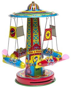 the colors and graphics on old tin toys are remarkable...I had this toy...wish I still had it!
