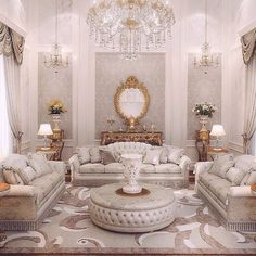 ♡ pinterest : brittesh18 ♡ Classic Living Room, New Living Room, Living Room Decor, Living Room Designs, Mobilia, Shabby Chic Kitchen, Luxury Homes, Luxury Mansions, Salon Cosy