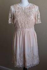 Forever 21 Lace Dress Size Large Blush Pink Women's Clothing