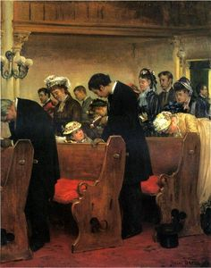 Pay attention. Henry Bacon (1839 – 1912), American artist.