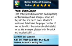 I had not expected much more than replacing our hail damaged roof shingles.  Now I see...