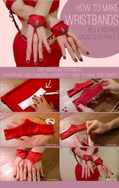 Bella inspired Gauntlets Part 1: How to Make Wristbands - SPARKLY BELLY