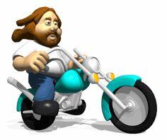 Gambar Animasi Lucu Berkendara Motor