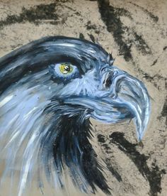 Abstract Eagle- With Charcoal