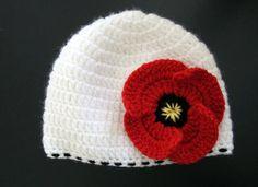 Amapola niñas Crochet sombrero bebé/niño por HunkyDoriBoutique, $23,00