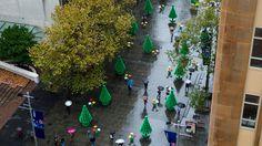 """""""life-sized Lego trees"""""""