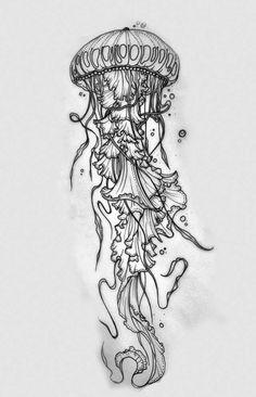 Jellyfish tattoo design - Jellyfish drawing for tattoo - Jellyfish Drawing, Jellyfish Painting, Jellyfish Tattoo, Watercolor Jellyfish, Jellyfish Aquarium, Tattoo Watercolor, Jellyfish Quotes, Jellyfish Sting, Jellyfish Light
