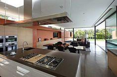 modern interior design with glass