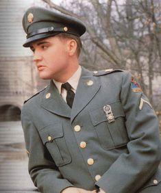 **Elvis in uniform...handsome