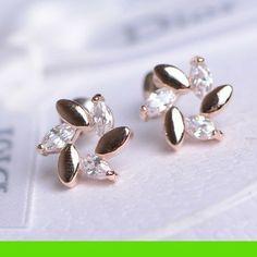 Flower Garland Rhinestone Earrings | LilyFair Jewelry, $15.99!