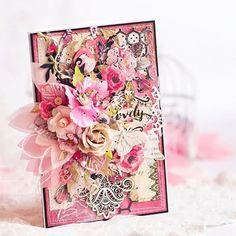 #Repost @i_s_kuznetsova ・・・ #scrap #scrapbooking #cardmaking #flowers #handmade #withlove #happiness #primamarketing #primaflowers #rossibellecollection