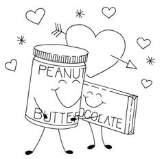 true love pb and chocolate embroidery pattern #free #embroidery #diy #crafts
