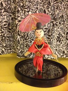 Chinese clothes pin doll