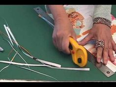 """How to: Make Round Paper Beads Pt 1 by JaniceMae - The measurement for small round beads is 3/16"""" at the base x 9"""" long.  Her ring and bracelet are made using these small, round beads."""