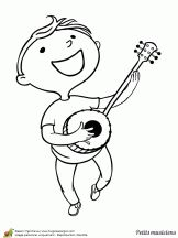 petits musiciens garcon et banjo