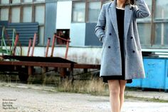 Black and Grey: Over-sized Jacket and Dress by Lumoan  http://jmorethanwords.blogspot.fi/2014/11/dress-by-lumoan.html
