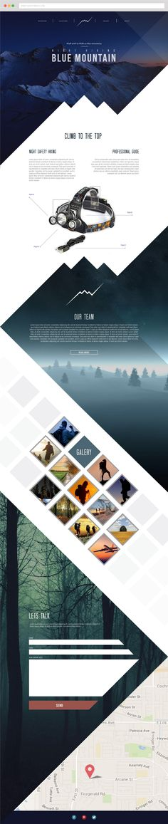 Mountain – modern and responsive website design.