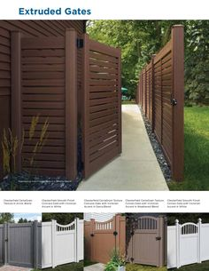 Vinyl picket fence is a functional and dramatic addition to most any front yard. Landscapers and home owners love the look and appeal of a clean white vinyl picket fence. Vinyl Picket Fence, Vinyl Privacy Fence, Yard Privacy, Privacy Fences, Fence Panels, Vinyl Fencing, Diy Fence, Backyard Patio Designs, Backyard Fences