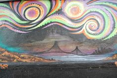 Ed Abillano: Today's Street Art - Northern Lights over San Francisco Northern Lights, Street Art, San Francisco, Painting, Painting Art, Aurora, Paintings, Paint, Nordic Lights