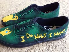 Loki Inspired Hand Painted Shoes by YellowReason on Etsy
