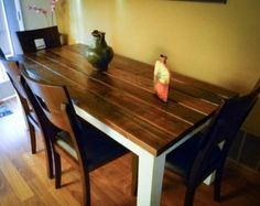 reclaimed distressed wood dining table / farmhouse table / kitchen island
