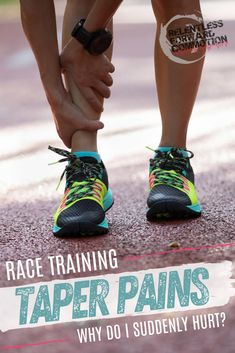 Are aches and pains while tapering for a race indicative of injury, or are they all in a runner's head?  Are your race day goals doomed, or is this normal?  Coach Heather here to help ease your mind...  #Run #Running #Marathon #Ultramarathon #Halfmarathon Running Injuries, Running Workouts, Running Tips, Half Marathon Training Plan, Marathon Running, Race Training, Running Training, Marathon Taper, Running For Beginners
