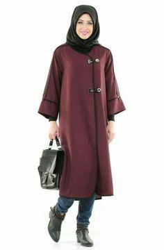 Trendy Coat Style Abaya for winter – Girls Hijab Style & Hijab Fashion Ideas Hijab Style, Hijab Chic, Blouse Dress, Jacket Dress, Modest Fashion, Hijab Fashion, Style Fashion, Habits Musulmans, Moslem Fashion