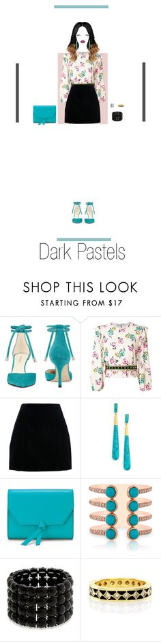 """Dark Pastels"" by nello-hope on Polyvore featuring Nine West, RED Valentino, Dean Davidson, Alexandra de Curtis, Anne Sisteron, Erica Lyons and Hidalgo"