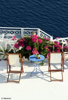 Santorini Aegean Blue - Table for 2