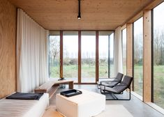 Weekend House Wachtebeke by GAFPA in Belgium takes its cues from Japanese architecture Modern Japanese Architecture, Japanese Minimalism, Minimalist Architecture, Interior Architecture, Japanese Aesthetic, Sustainable Architecture, Residential Architecture, Weekend House, Asian Home Decor