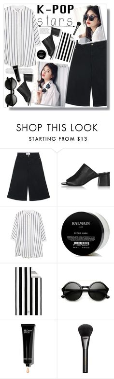 """""""No 411:I love Bae Suzy"""" by lovepastel ❤ liked on Polyvore featuring Frame Denim, Topshop, MANGO, Voi Jeans, Balmain, Pottery Barn, Bobbi Brown Cosmetics, Gucci and kpop"""