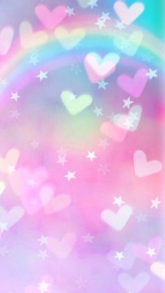 Pastel heart rainbow wallpaper discovered by creamy bunny Pink Chevron Wallpaper, Unicorn Wallpaper Cute, Rainbow Wallpaper, Pink Wallpaper Iphone, Emoji Wallpaper, Heart Wallpaper, Kawaii Wallpaper, Pastel Wallpaper, Love Wallpaper