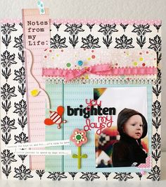 Themed Projects :  You Brighten My Days by Shannon Tidwell @2peasinabucket