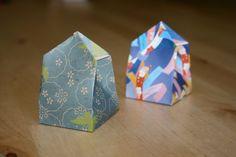 Origami gift box video.